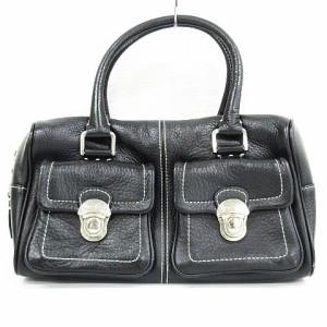 1ef94558441f アニエスベー ボヤージュ Agnes b. VOYAGE ハンドバッグ 鞄 レザー 黒 レディース