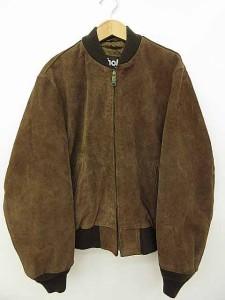 ショット SCHOTT レザージャケット ブルゾン 無地 長袖 スエード 茶色 ブラウン 40 0125 メンズ ベクトル【中古】