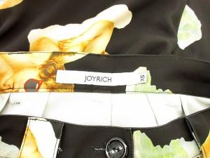 ジョイリッチ JOYRICH パンツ テーパード 天使 薄手 XS 黒 ブラック /yy レディース ベクトル【中古】