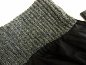 エディション Edition トゥモローランド ジャケット レザー 羊革 ライダース リブ ニット ジップアップ 38 黒 ブラック /yt レディース
