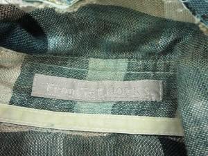 フランシストモークス FranCisT MOR.K.S シャツ 七分袖 チェック リネン 1 緑 グリーン /yy レディース