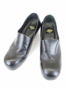 オゾンコミュニティ OZONE COMMUNITY 靴 革靴 おでこ靴 ヒール 25.5cm 黒 ブラック /yy  レディース ベクトル【中古】