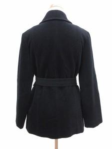 アンタイトル UNTITLED コート ハーフ ステンカラー アンゴラ ウール 2 黒 ブラック /tm レディース ベクトル【中古】