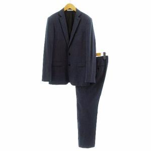 f361dc26edd262 カルバンクライン CALVIN KLEIN スーツ セットアップ 上下セット ジャケット パンツ ピンストライプ 紺 水色 36 30