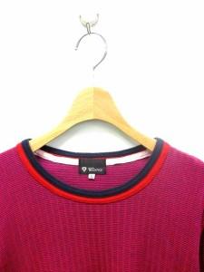 ザショップティーケー THE SHOP TK Tシャツ カットソー 長袖 ボーダー ラウンドネック M ピンク /KS メンズ ベクトル【中古】