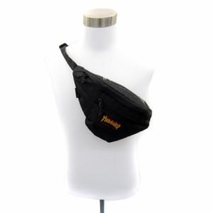【中古】スラッシャー THRASHER ボディーバッグ ショルダーバック ウエストバック 無地 ロゴプリント ブラック メンズ