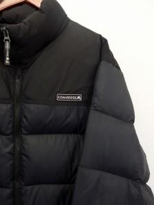 コンバース CONVERSE ジャケット ブルゾン ダウン もこもこ ジップ LL ブラック 黒 /UT34 メンズ ベクトル【中古】