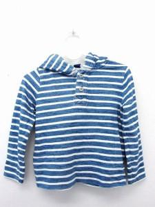 510cd6f908448 ベビーギャップ BABY GAP 子供服 キッズ Tシャツ カットソー フード ボーダー 長袖 コットン 綿 90