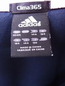 db4ff9f10d365 アディダス adidas 子供服 キッズ Clima365 ジャージ ジャンパー ジップアップ 長袖 ロゴ ライン 160 ネイビー 紺  FT1