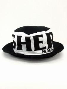 【中古】スラッシャー THRASHER 帽子 キャップ バケット ハット バイカラー ロゴ コットン 綿 F ブラック 黒