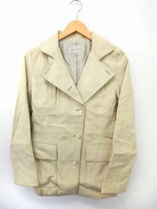 【中古】ボールジー BALLSEY トゥモローランド レザー ジャケット アウター テーラード ポケット シンプル 38の画像