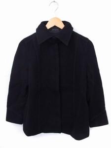 【中古】アバハウス ドゥヴィネット abahouse devinette コート アウター ステンカラー 長袖 ウール ブラック 黒 /FT16の画像