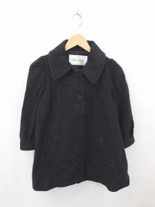 【中古】バナーバレット Banner Barrett コート アウター ステンカラー ひざ丈 無地 シンプル ウール 36 黒 ブラックの画像