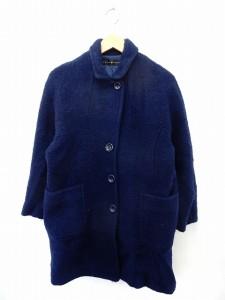 【中古】チャイルドウーマン CHILD WOMAN コート アウター ステンカラー ウール シンプル ポケット F ブルー /ST37の画像