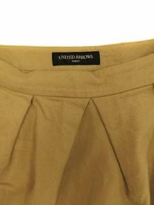 ユナイテッドアローズ UNITED ARROWS スカート コクーンスカート ショート ミニ 40 ベージュ レディース ベクトル【中古】