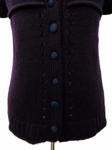ホコモモラ JOCOMOMOLA セーター ニット Vネック オフショルダー 半袖 40 紫 レディース ベクトル【中古】