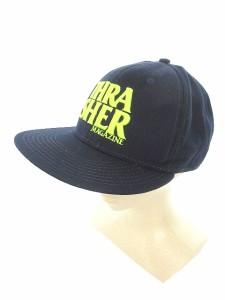 【中古】スラッシャー THRASHER 帽子 キャップ 刺繍 ウール混 紺 ネイビー /JN43 メンズ