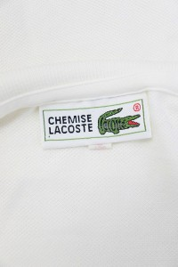 be962df71df90 ラコステ LACOSTE キッズ ポロシャツ 半袖 ワッペン 鹿の子 150 白 ホワイト  MO15 メンズ