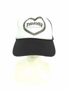 【中古】ジュエティ jouetie スラッシャー THRASHER 帽子 キャップ プリント ONE 黒 ブラック /SI1 レディース
