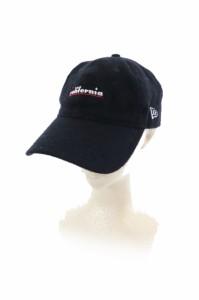 3638062f046fee 【中古】ニューエラ NEW ERA 帽子 キャップ 野球帽 刺繍 ウール コットン 黒 ブラック /