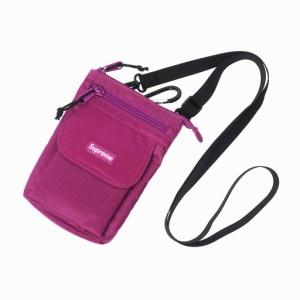 【中古】シュプリーム SUPREME 19AW Cordura Shoulder Bag コーデュラナイロン ミニ ショルダーバッグ ポーチ 紫