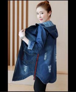 ジャケット デニム ファスナー シンプル ライン アウター レディース 女性 大きいサイズ ブルー