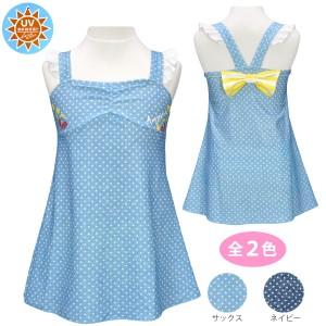 e2b33c79e4d ワンピース水着 ドット 女の子 子供服 ジュニアサックス