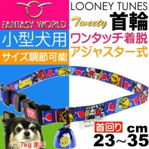 送料無料 トゥイーティー 小型犬用 首輪 青 幅10mm 首回り2335cm Fa337