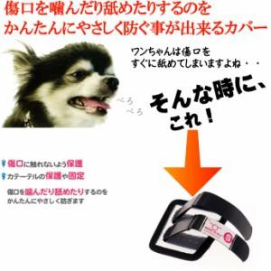 送料無料 愛犬用傷口舐め防止カバーS足に巻くだけカテーテルガード Fa281
