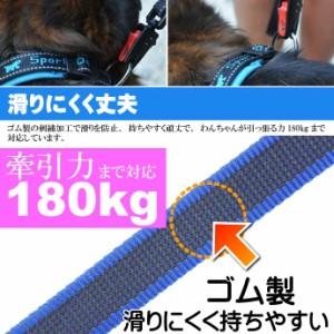 送料無料 2頭引き 犬 リード デイトナGUMMY 幅20mm長2.0m 青 Fa5149