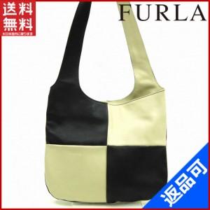 フルラ バッグ FURLA ショルダーバッグ ワンショルダー ベージュ×ブラック 即納 【中古】 X11301