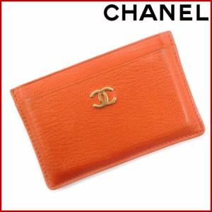 シャネル カードケース CHANEL カードケース オレンジ (激安・即納) 【中古】 X4234