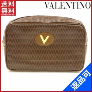 ヴァレンティノ バッグ VALENTINO セカンドバッグ ポーチ ブラウン 激安 即納 【中古】 X8230