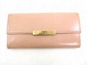 カルティエ 財布 Cartier 長財布 ラブシリーズ ピンク 即納 【中古】 X14608