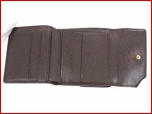 ルイヴィトン 財布 LOUIS VUITTON 二つ折り財布 Wホック財布 ポルトフォイユ エリーズ エベヌ(ブラウン系) 人気 即納 【中古】 X10344