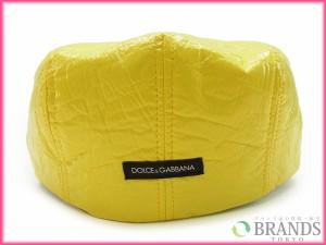 ドルチェ&ガッバーナ 帽子 DOLCE&GABBANA 帽子 ハンチング イエロー (未使用品) (未使用品) X2631