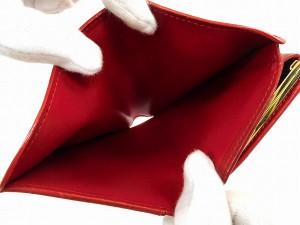 ルイヴィトン 財布 LOUIS VUITTON 二つ折り財布 がま口財布 ポルトモネビエヴィエノワ レッド 人気 即納 【中古】 X14848