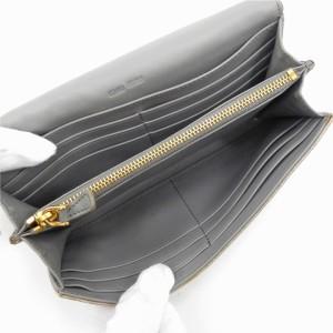 ミュウミュウ 財布 miumiu 長財布 クロコ グレー 激安 人気 【中古】 X8417