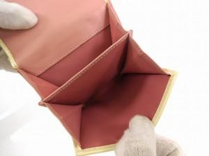 クリスチャン・ディオール 財布 Christian Dior 二つ折り財布 Wホック財布 ホワイト×ピンク 即納 【中古】 X12124