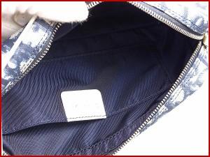 クリスチャン・ディオール バッグ Christian Dior ポーチ ショルダーバッグ ホワイト×ネイビー 良品 人気 【中古】 X8357