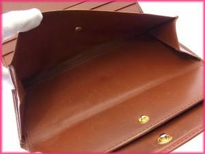 ルイヴィトン 財布 LOUIS VUITTON 長財布 三つ折り ポルトトレゾールインターナショナル ケニアブラウン 人気 激安 【中古】 X7708