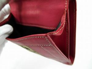 グッチ 財布 GUCCI 二つ折り財布 Wホック財布 ベージュ×ピンク 即納 【中古】 X13275