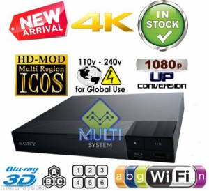 Sony リージョンフリー DVD・ブルーレイプレーヤー 無線LAN内蔵(Wi-Fi) 4K対応 3D再生 日本語メニュー BDP-S6500 [並行輸入品]