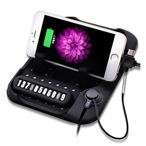 DELAM 車載ホルダー シリコンシート 粘着シール不要 ダッシュボードに簡単取付 滑り止め iphone/iPad アイフォン アンドロイド スタンド