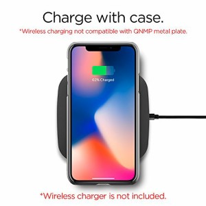 【Spigen】 iPhone X ケース, [ Qi 充電 対応 ハードケース 高品質PC 超薄 軽量 ] シン・フィット アイフォン X 用 カバー (iPhone X, サ