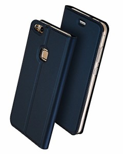 Huawei P10 Lite 手帳型 ケース、Uniqe 軽量 P10lite 専用 ポケット カード収納あり マグネット スタンド機能付き [高級 PU レザー+TPU素