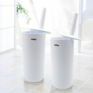 トイレブラシ トイレ 掃除 おしゃれ ブラシ ケース付き ホワイト 2個セット Topsky