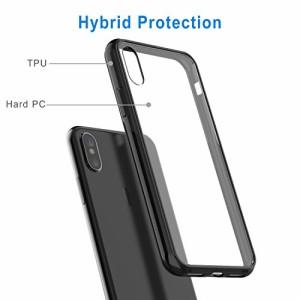 JEDirect iPhone X ケース 衝撃吸収バンパー 擦り傷防止 Qiワイヤレス充電対応 アイフォン X 用 (ブラック)