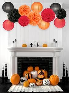 ハロウィン 飾り付け  Halloween ハロウィン 飾り  装飾 セット ハロウィン テーマ パーティー シリーズ ペーパーポンポン
