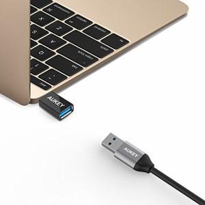 【2点セット】 AUKEY USB C to USB 3.0 変換アダプタ Type cコネクタ 56Kレジス OTG機能対応 新しいMacBook Pro、MacBook、Chromebook Pi